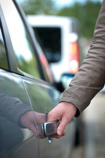 Passenger Opening a Car Door