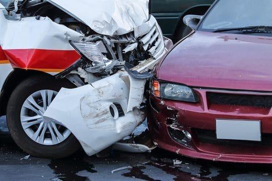 car crash accident on street, personal injury
