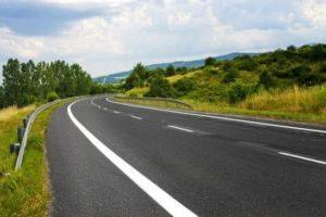empty stretch of highway