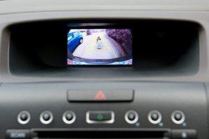 back up camera display inside a vehicle