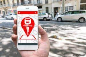 Ride sharing service screen