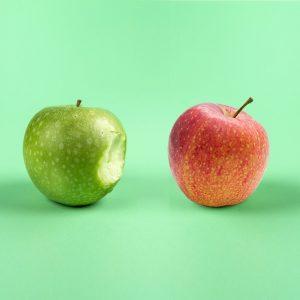 personal injury, total loss, metaphor, apple