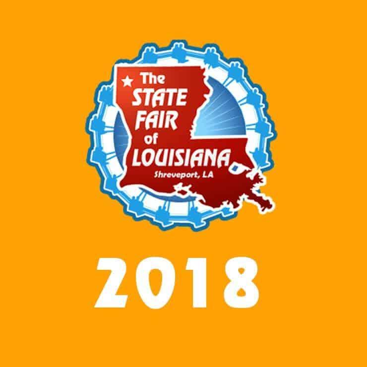 2018 louisiana state fair logo on orange background