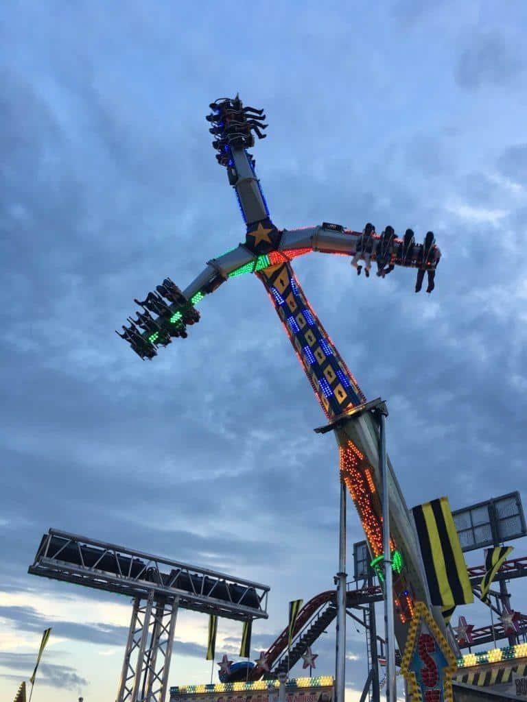 a tall gravity ride at the louisiana state fair 2018 in shreveport louisiana