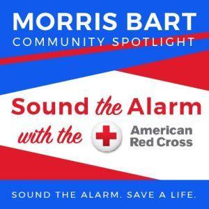 graphic for community spotlight on red cross's sound the alarm volunteer program
