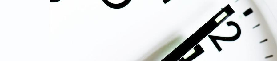 white analog clock photo