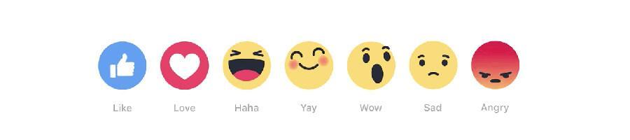 social media emoji and reactions graphics