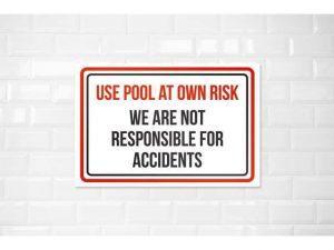 pool danger or risk sign