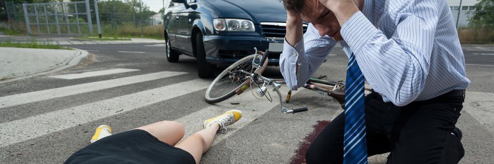 a driver hit a female cyclist