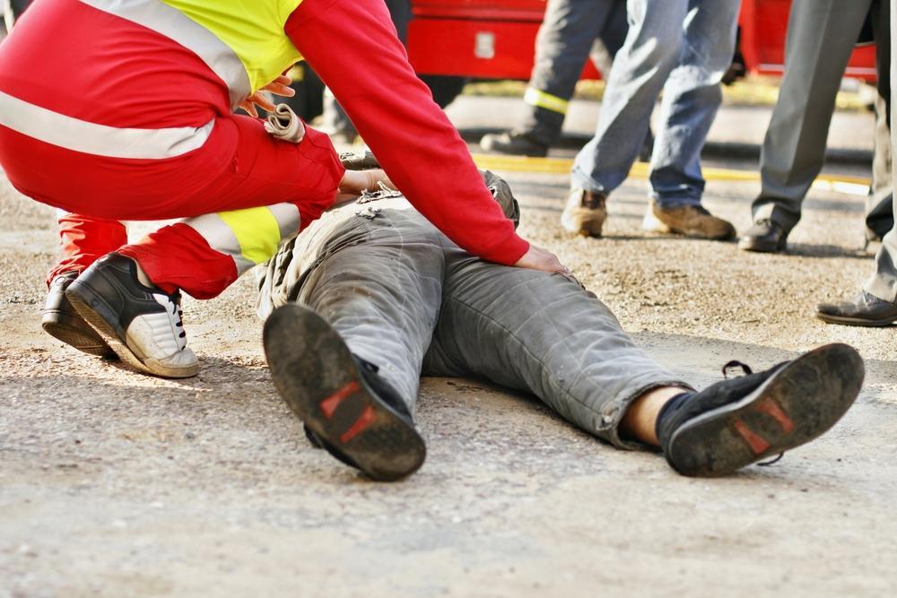 paramedic attempts to revive man after serious car crash