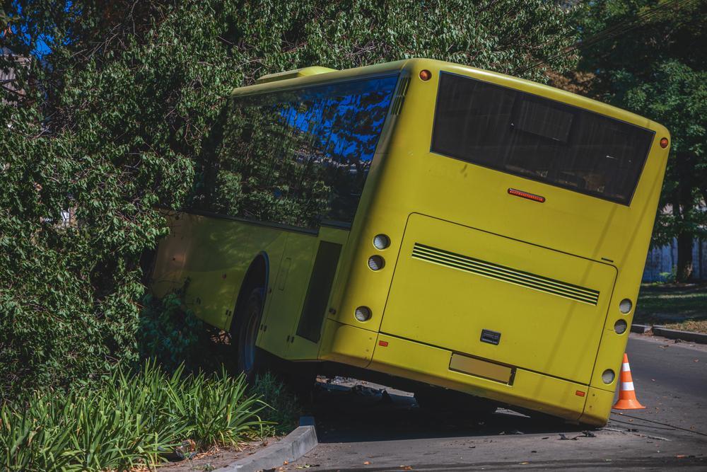 runaway bus veered off road into tree